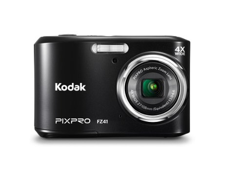 Kodak Friendly Zoom FZ41-BK   Digital Camera with 4x Optical Image Stabilized Zoom  with 2.7-Inch LCD (Black)