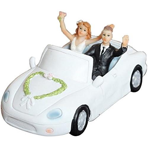 Happy Cherry 케익 장식하는 용품 신부 신랑 결혼식주년 기념 고급차를 운전하는 인형 귀엽 웨딩 피규어