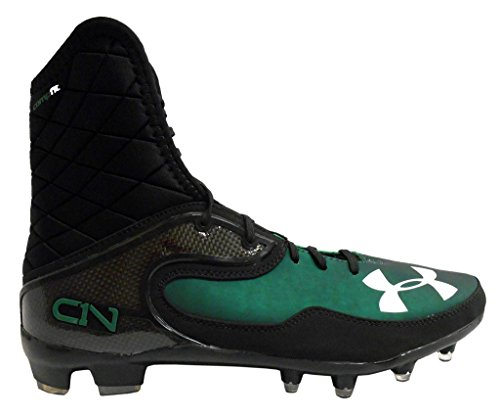 Under Armour Team Cam Highlight Mc Men'S Molded Cleats (11, Black/Green)