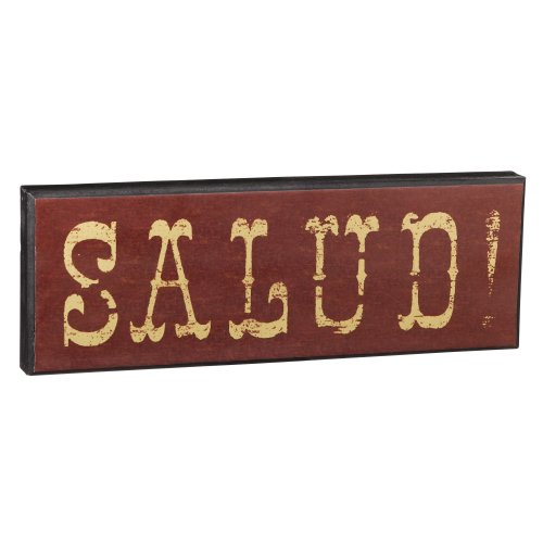 Grasslands Road 3-Pack In Vino Veritas Wooden Salud Plaque, 15 By 5-Inch