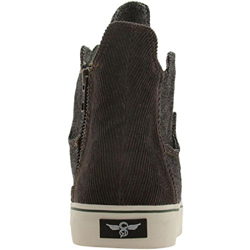 Creative Recreation Men's Profaci Sneaker,Black Buffalo/Chocolate,9 M US