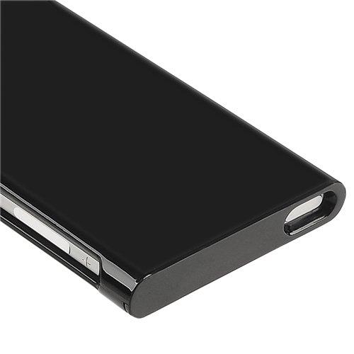 Theo&Cleo Black Plastic Hard Slim Case Cover Skin For Apple iPod Nano 7 7G Generation 7th hhi ipod nano 6th generation silicone looper skin case yellow