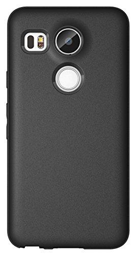 Diztronic N5X-FM-BLK Custodia Opaca Soft Touch Flessibile TPU per LG Nexus 5X, Nero