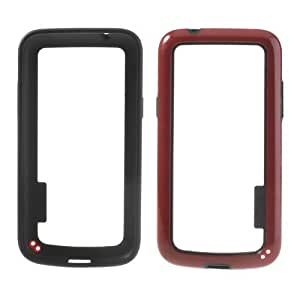 JUJEO TPU and Plastic Hybrid Bumper Frame Case for Samsung Galaxy Core Plus G3500/Trend 3 G3502 - Non-Retail Packaging - Red