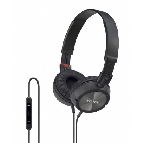 Sony Lightweight Zx Series On-Ear Headphones With In-Line Microphone And Remote Control For Apple Iphone, Ipod Or Ipad