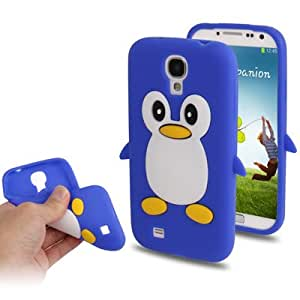 Crazy4Gadget 3D Penguin Shaped Silicon Protective Case for Samsung Galaxy S IV / i9500 (Dark Blue)
