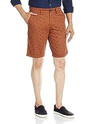 Basics Men's Cotton Shorts (8907054874408_15BSS33430_30_Brown)