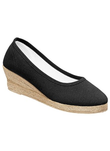 Canvas Espadrilles, Color Black, Size 08 M
