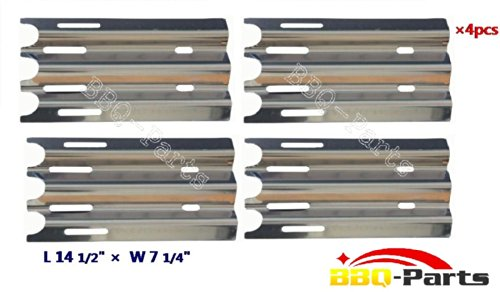 Hongso SPZ081 (4-pack) Stainless Steel Heat Plate, Heat Shield, Heat Tent, Burner Cover, Vaporizor Bar, and Flavorizer Bar Replacement for Select Jenn-Air and Vermont Castings Gas Grill Models, VCHP1 (14 1/2 (Vermont Casting Covers compare prices)