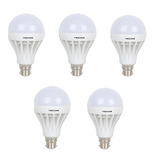 7W LED Bulb (White, pack of 5)