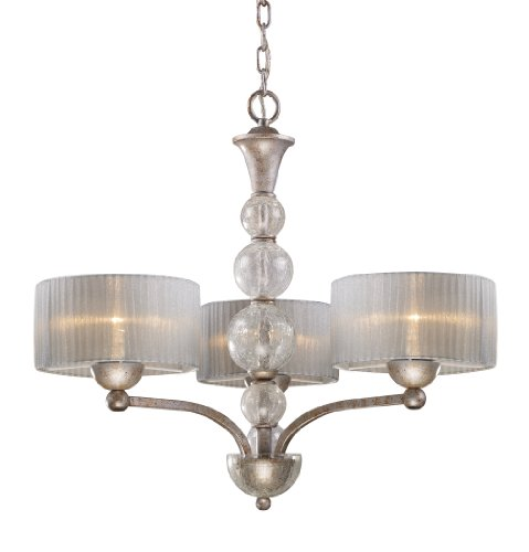 Elk 20008/3 Alexis 3-Light Chandelier In Antique Silver Elk B004HWV7B8