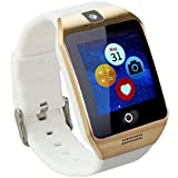 TopePop Touch Screen Smart Watch With Camera Bluetooth Wrist Watch Support SIM Card For Android Smart Phones White