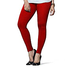 Liana Women's Cotton Legging(RFLA03_Red_FreeSize)