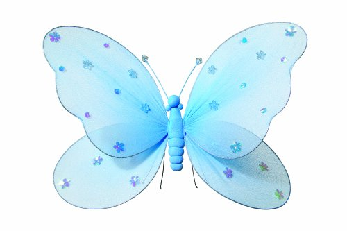 "Heart to Heart Heart To Heart Hanging Butterfly 5"" Small Blue Nylon Butterflies Girls Room Ceiling Wall Décor"