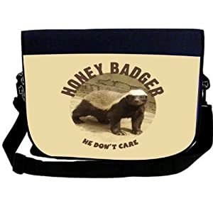 Honey Badger don't care funny laptop sleeve messenger bag at amazon