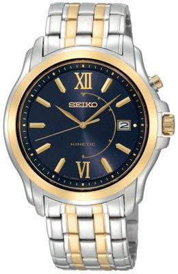 Seiko Men'S Ska474 Kinetic Blue Dial Watch