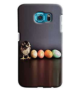 Blue Throat Bird With Colored Eggs Hard Plastic Printed Back Cover/Case For Samsung Galaxy S7