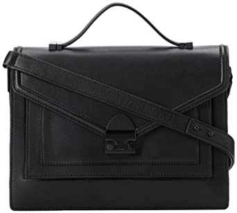 LOEFFLER RANDALL Rider Satchel-N Top Handle Bag,Black,One Size