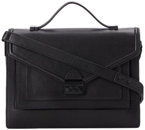 LOEFFLER RANDALL Rider Satchel-N Top Handle Bag,Black,One Size