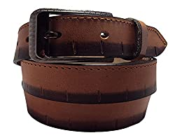 National Leathers Casual Men's Belt NLKNP666_XL Reddish Brown XL Size