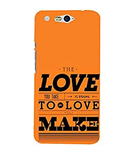 Love is Equal to Make 3D Hard Polycarbonate Designer Back Case Cover for In Focus M812 :: InFocus M 812