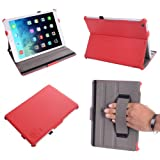 Only Fit Apple iPad Air (iPad 5th Generation Released November 1st 2013). * This Ultra Thin Slim Smart Multi-Stand Leather Cover Case Built-in Hand Grip and Lock Closure With Auto Wake Sleep Mode Was Designed to be the perfect Companion for Apple iPa...