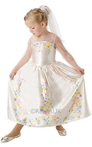 Bambine Originale Disney Cenerentola Sposa Principessa Festa Del Libro Costume Travestimento - Avorio, 7-8 Years