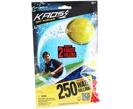 Imperial Kaos Water Balloons (250-pack with 2 Faucet Fillers) - 1