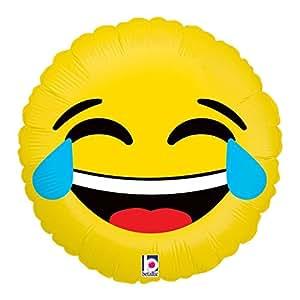 emoji ballon tr nen lachender smiley 46cm gasgef llt im. Black Bedroom Furniture Sets. Home Design Ideas