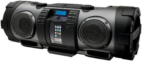JVC RV-NB70B Powered iPod/iPhone Dock Woofer Speaker System with connection for MP3/Mic/CD and Guitar - Black