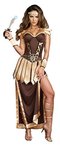 Dreamgirl Womens Remember The Trojans Warrior Outfit Fancy Dress Sexy Costume