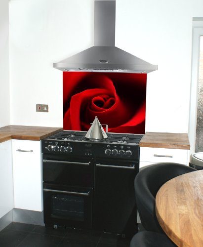 Red Glass Splashbacks Glass Splashback With Red Rose