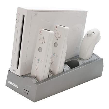 Wii Charge & Dock Station w/Rechargeable Batteries