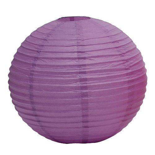 "Weddingstar Round Paper Lantern, 16"", Lavender"