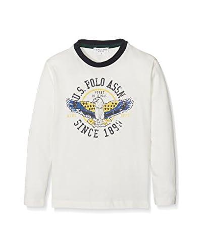 U.S. POLO ASSN Camiseta Manga Larga Blanco