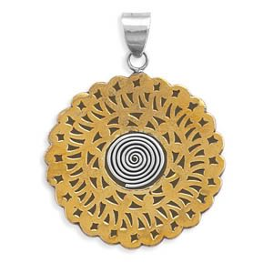 Two Tone Patterned Pendant