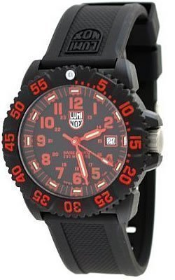 Luminox #3065 Men's Navy Seal Colormark - 3050 Series Watch (Black Dial/Red P