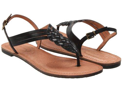 Corso Como Women's Friendship Thong Sandal,Black Burnish Calf,7.5 M US