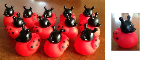 "Dozen (12) Ladybug Rubber Ducks/Duckies/Party Favors/Insect/Lady Bug Decor/Decorations/Toy/2"" front-946078"