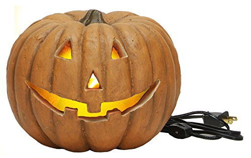 Carved Lighted Jack O'Lantern Halloween Decor