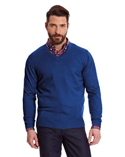 Macson Jersey Cuello Pico Azul