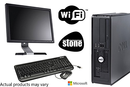 """Newly Refurbished Encore Dell Dual Core PC Bundle with Microsoft Windows 7 and WIFI - 17"""" Monitor - New Microsoft Keyboard and Mouse and 1 Year Warranty ..."""