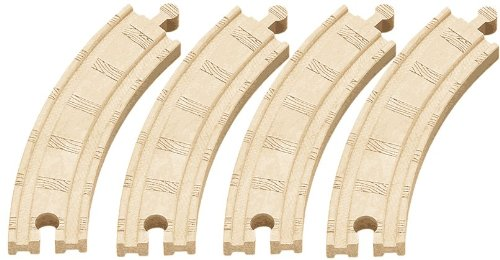 Thomas & Friends Wooden Railway - 6-1/2 Inch Curved Track (4 pieces) LOOSE - Brand New - 1
