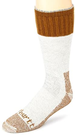 Carhartt Men's Extremes Cold Weather Boot Sock,Brown,X-Large