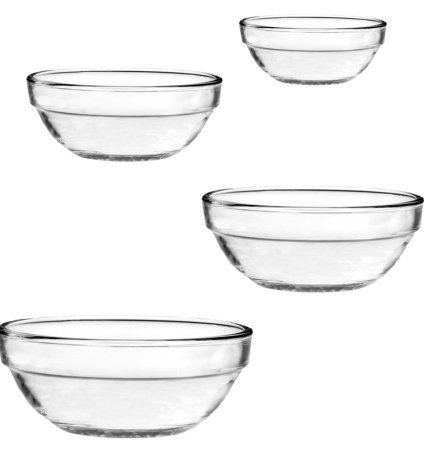 4 Pc. Nesting Bowl Set (1 qt./.9L , 1.5 qt/1.4L , 2.5 qt./2.4L & 3.5 qt./3.2L Bowls) (Anchor Hocking Mixing Bowl Set compare prices)