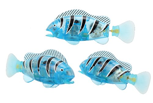 "Bokit Bathtub Toys Fish Electronic 3.3"" Clownfish, Flash Lighting and Mouth Open/Close Blue - 1"