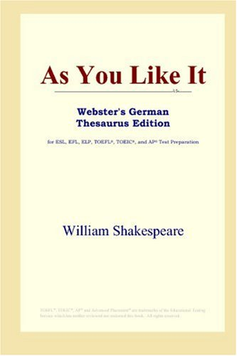 As You Like It (Webster