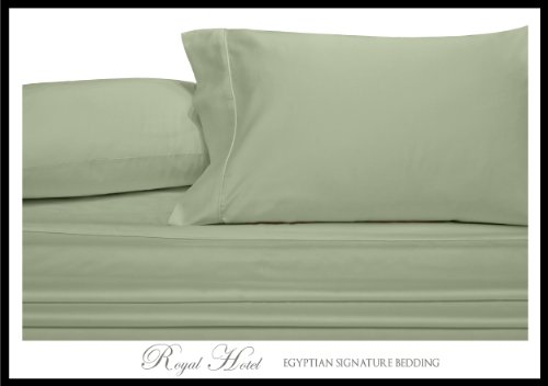Royal'S Solid Sage 4Pc King / California-King Waterbed-Sheets 100-Percent Brushed Microfiber, Sateen Solid Sheet Set front-1010667
