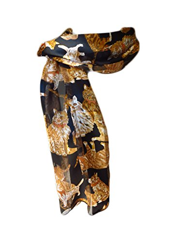 new-company-womens-cats-and-kittens-scarf-black-one-size