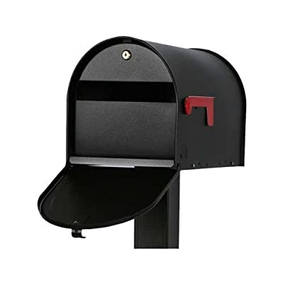 Solar Group SM16KB01 Mailsafe II Mailbox, Curbside, Locking, Black, 11-3/4 x 11-1/2 x 20-In.
